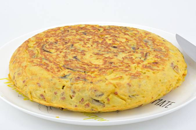 We have already finished the potato omelette with mushrooms