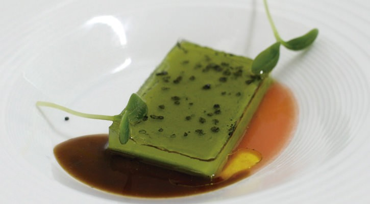 Chard mixed with spelled bread, butter and lyophilized vegetable gel - Gastroactitud.  Passion for food
