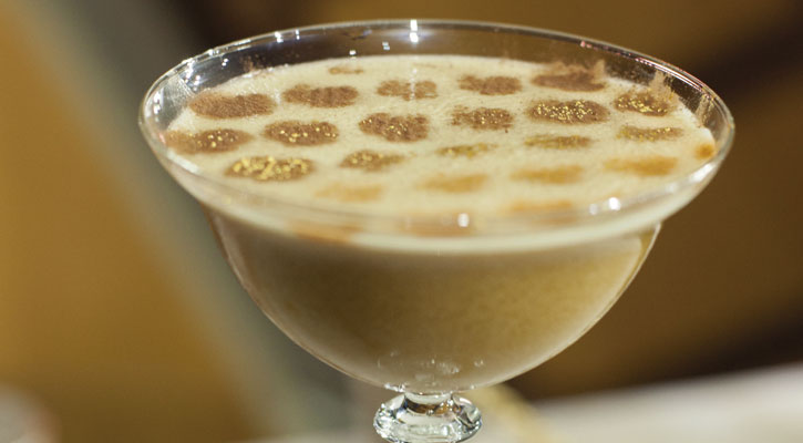 Golden vegetables, coffee cocktail - Gastroactitude.  Passion for food