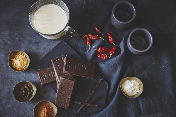 Ingredients for chocolate recipe