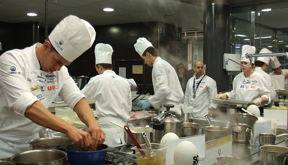 Participants in the sixth semifinal of the Chef of the Year competition