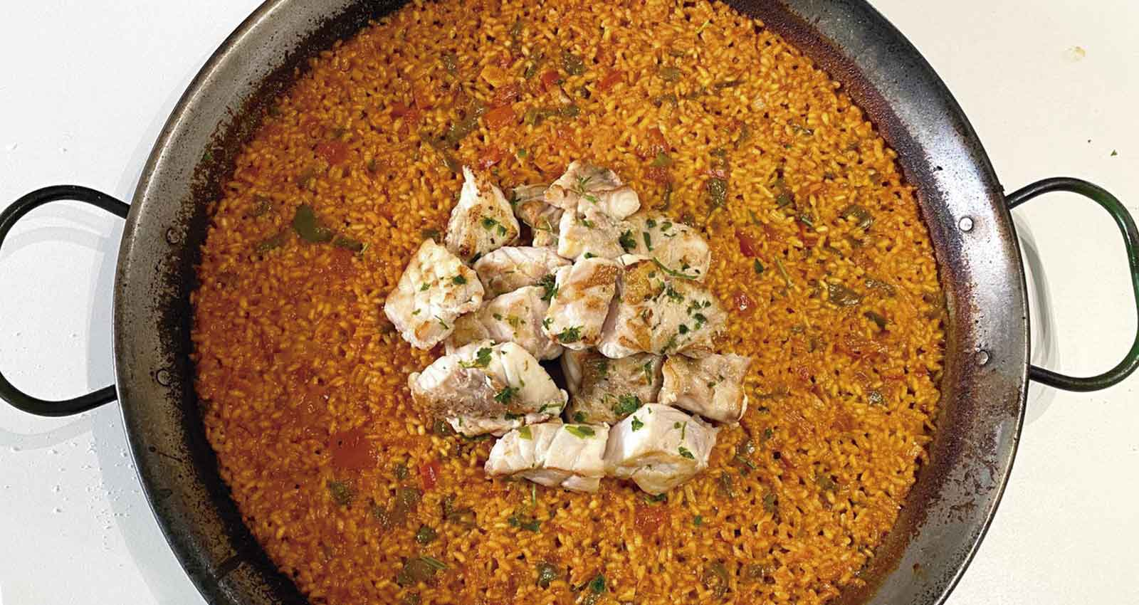 Molino Roca rice with grouper - Gastroactitud.  Passion for food