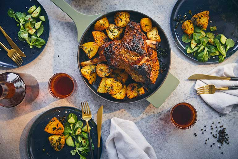 Roast lamb in Indian style - Love for cooking NEFF