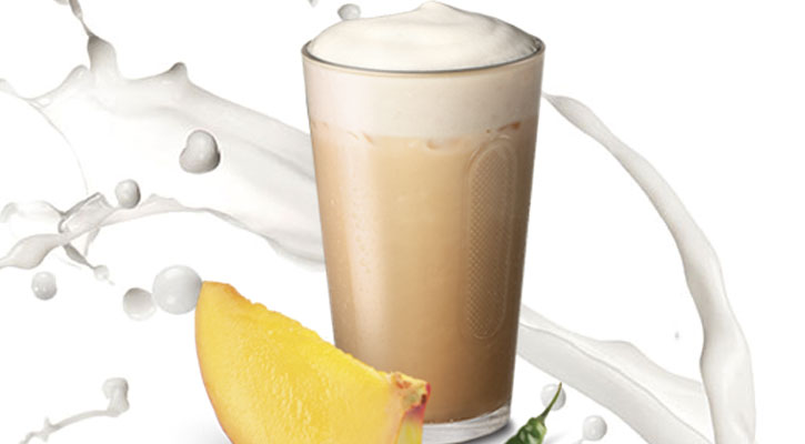 Spicy mango latte - Gastroactitud.  Passion for food