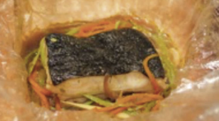 Turbot papilot with Asian touch - Gastroactitud.  Passion for food