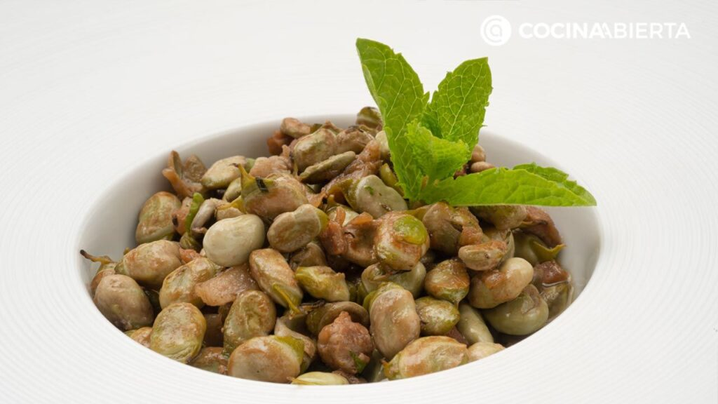 Tender beans stewed with mint, Arguiñano recipe!