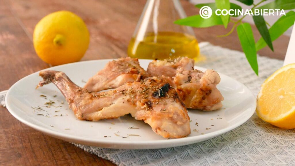 Grilled rabbit with lemon (easy recipe)  Open kitchen