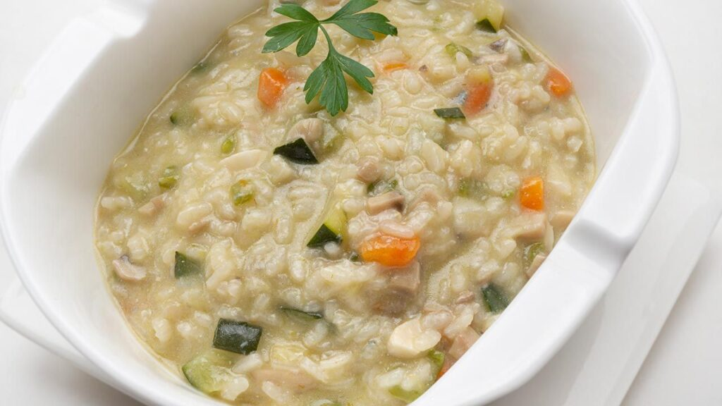 Vegetable risotto with blue cheese - Recipe by Carlos Arginiano in Open Kitchen - Hogarmania