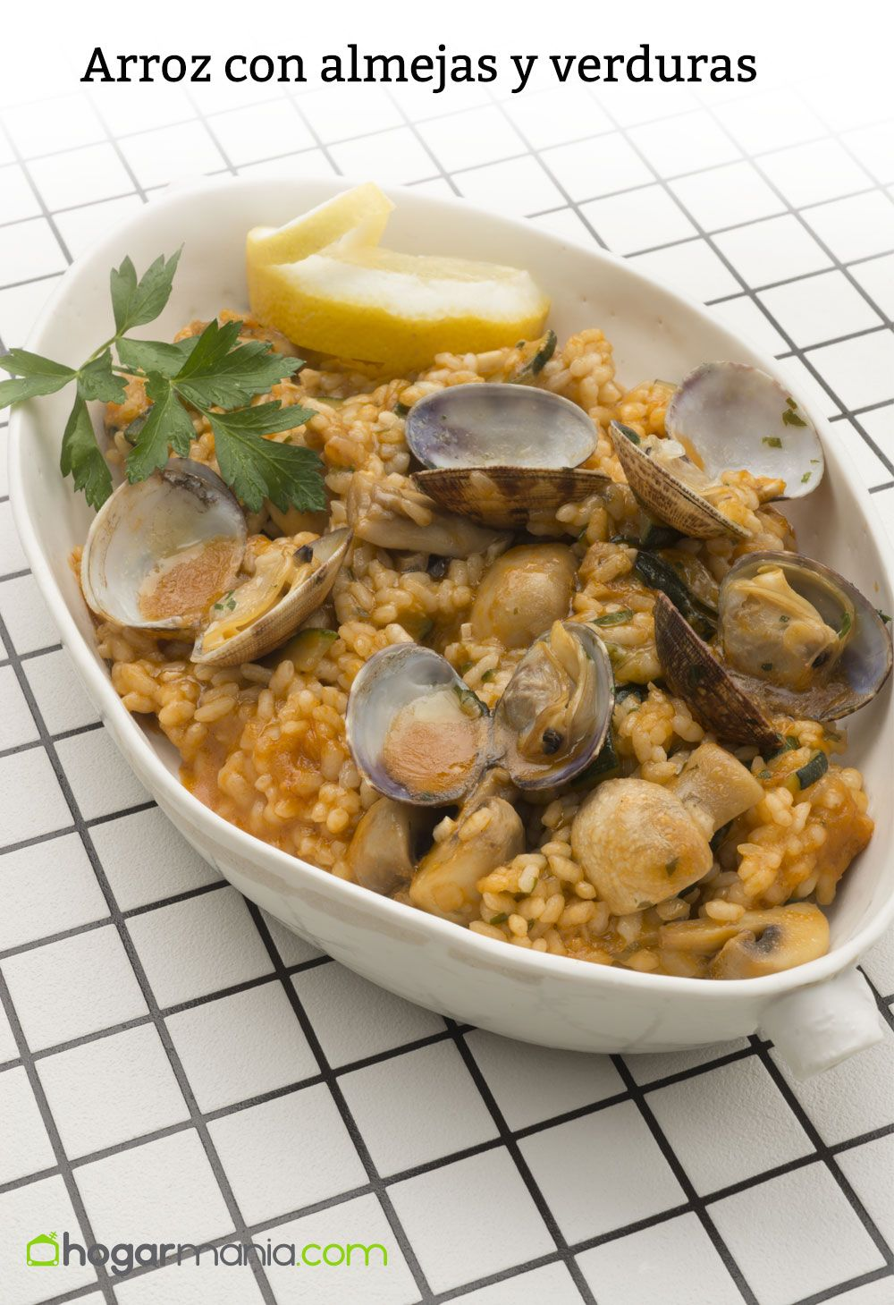 rice with mussels and vegetables