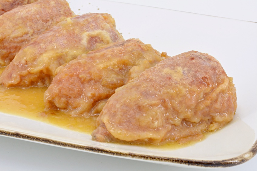 Recipe for peppers stuffed with meat with onion sauce
