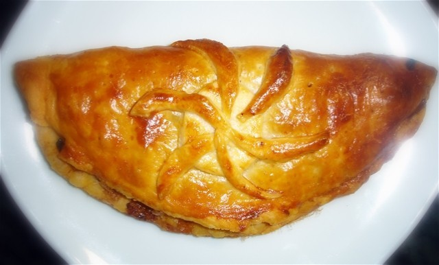 Octopus pastry dish