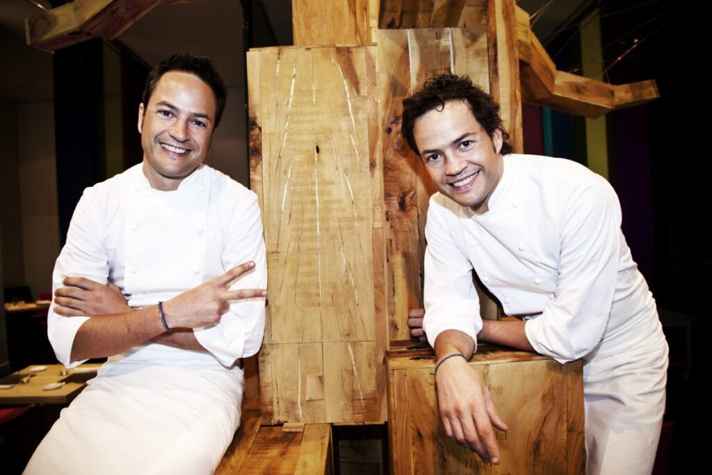 Brothers Sergio and Javier Torres in cooking