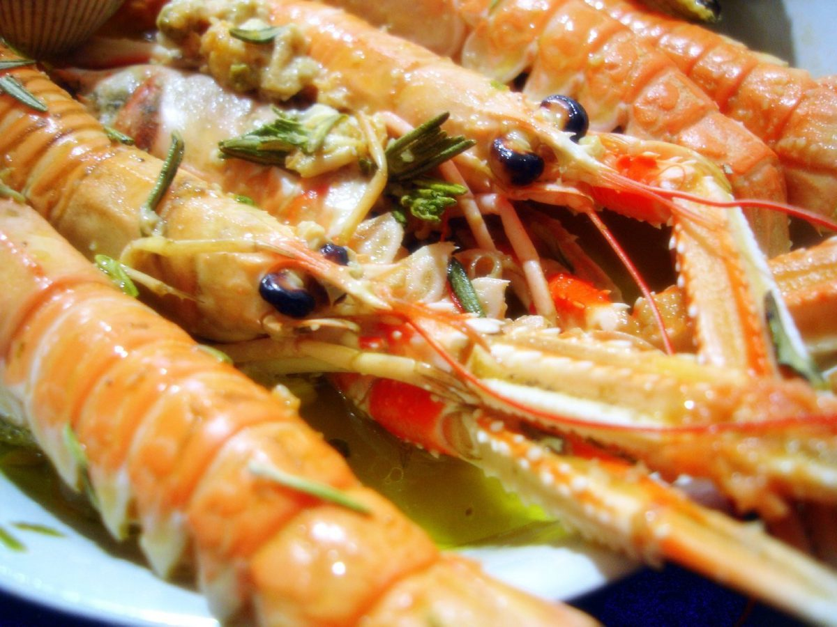 Crabs with rosemary
