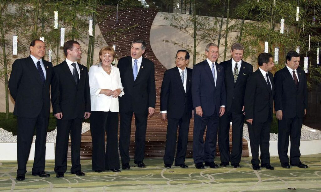The G8 summit in 2008