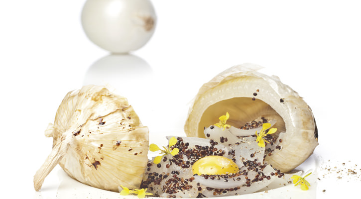 Onions, quinoa and egg yolk - Gastroactitud.  Passion for food