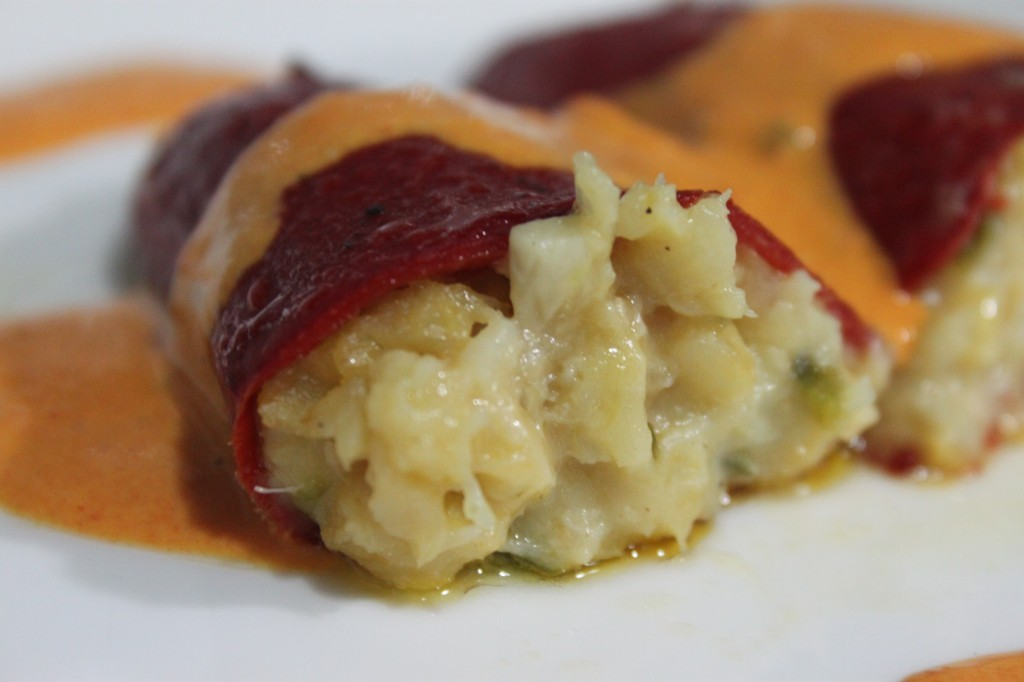 Peppers stuffed with cod