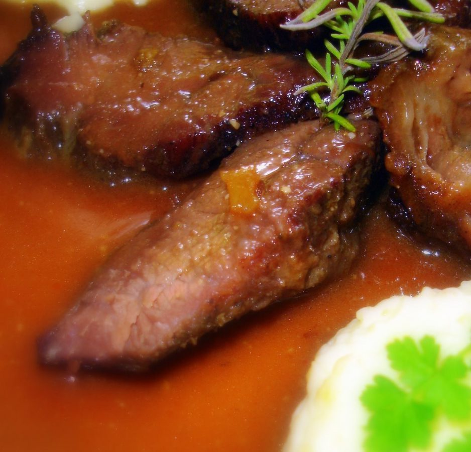 Recipe for baked cheeks or cheeks