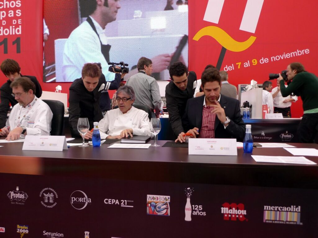 Jury of the national competition for pinchos and tapas from Valladolid