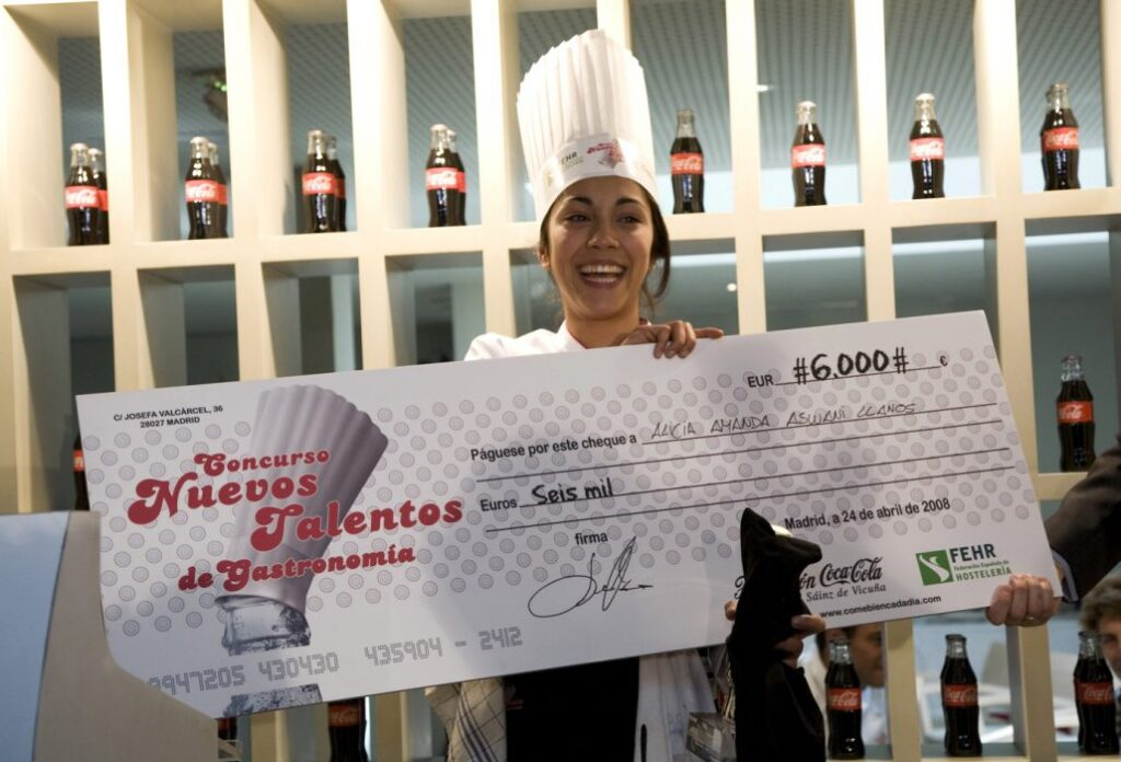 Alicia Amanda Aswani - winners of the competition for new talents in gastronomy