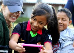 Sara McDaniel with Guatemala girl - a better life and hope