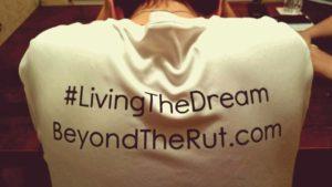 Beyond the Rut t-shirt back