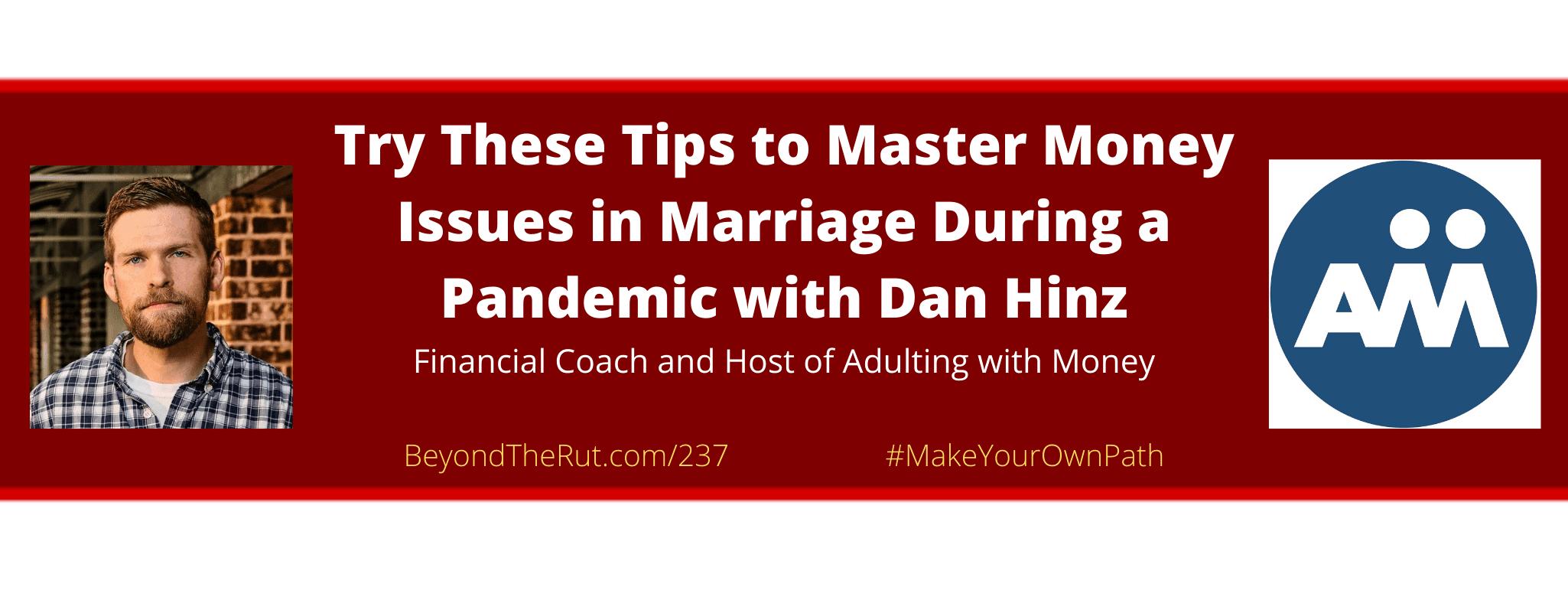 money issues with marriage dan hinz