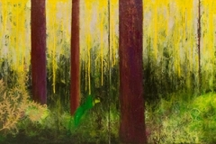 Adored, 2014 Oil on canvas 34 x 192 inches/ 86.3 x 487.6 centimeters