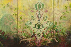 Song Of Providence, 2013, Oil on linen, 40 x 90 inches/ 101.6 x 228.6 centimeters