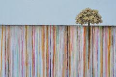The Ineffable Ground VI (Oregon White Oak), 2017, Oil on panel, 20 x 24 inches/ 50.8 x 60.9 centimeters