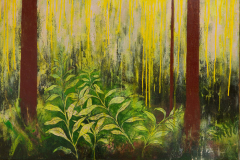 Adored, 2014, Oil on Canvas, 34 x 192 inches/ 86.3 x 487.6 centimeters