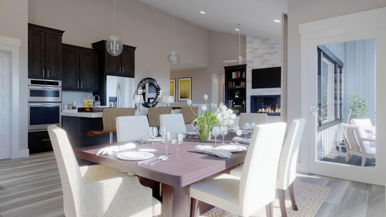 luxury home with open floorplan dining room