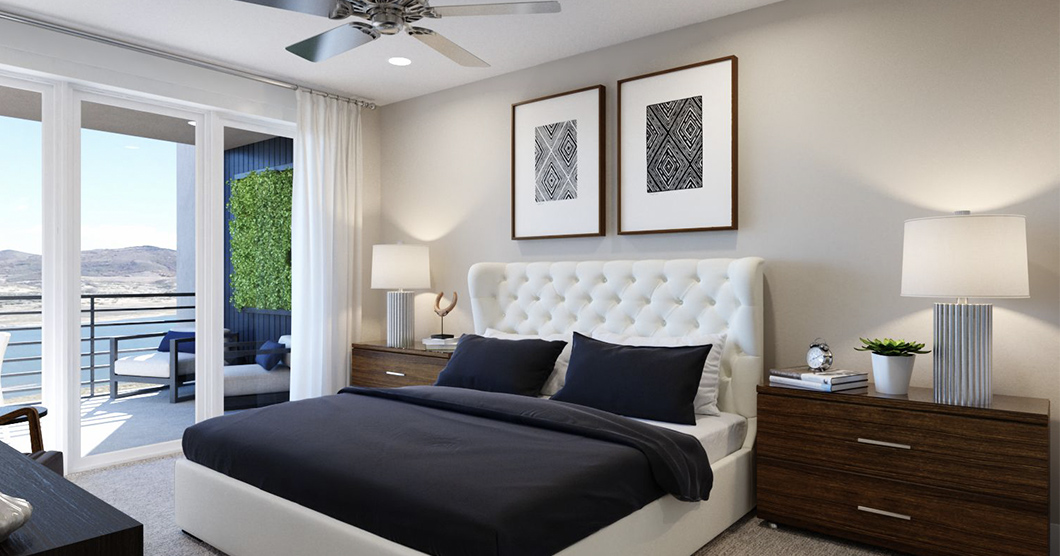 townhomes for sale with bedroom balcony