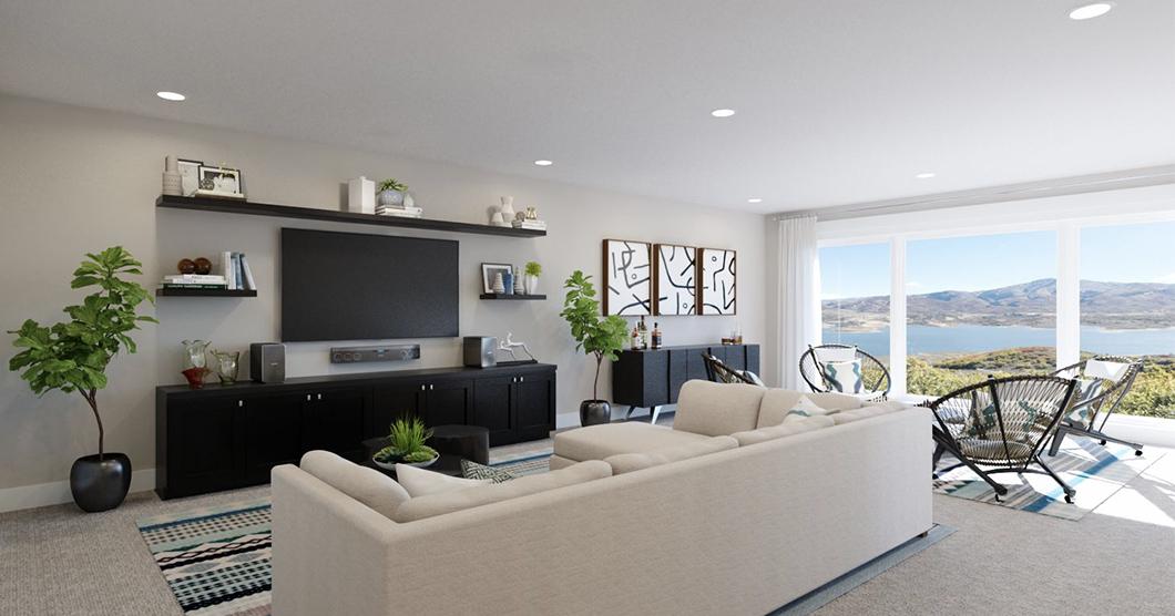 Open floorplan manufactured home
