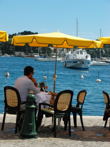 Villefranche sur Mer - lunch at La Mere Germaine