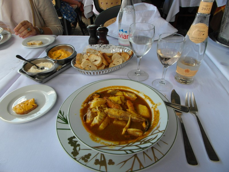 Villefranche sur Mer - The bouillabaisse of La Mere Germaine
