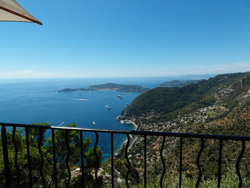 Eze le Village - View of Cap Ferrat and Beaulieu sur Mer