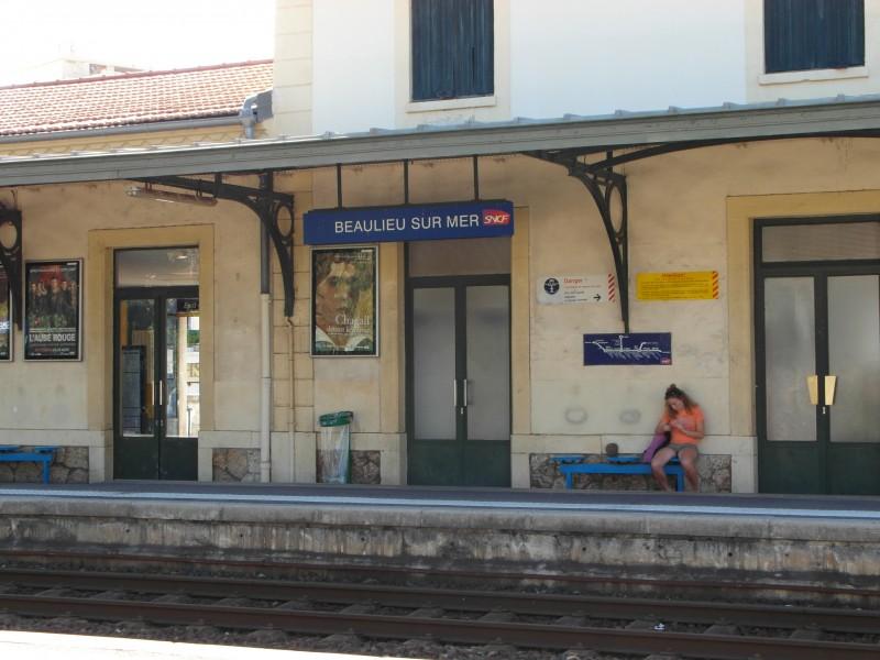 SNCF train station of Beaulieu sur Mer