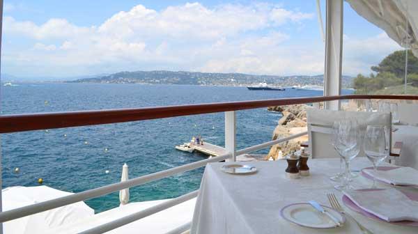 Luncheon at restaurant of the Hotel du Cap-Eden-Roc in Cap d'Antibes