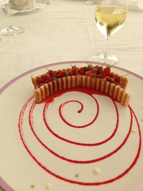 "Luncheon Dessert Millefeuille with ""fraises des bois"""