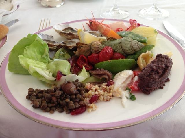 Luncheon Platter from the Buffet Eden-Roc