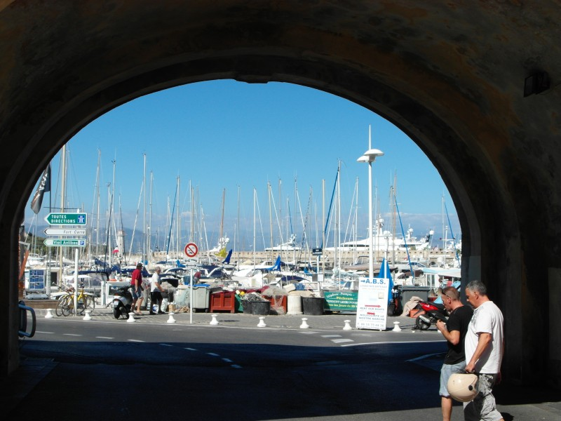 Port Vauban marina right outside the walls of old Antibes