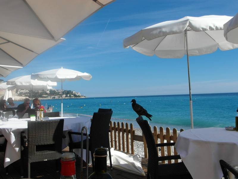 Plage Beau Rivage in Nice France on the Cote d'Azur French Riviera