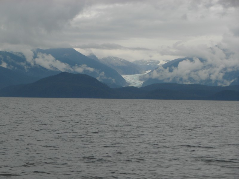The incomparable beauty of sea, glacier and coastal mountains with their heads in the clouds! - near Juneau Alaska