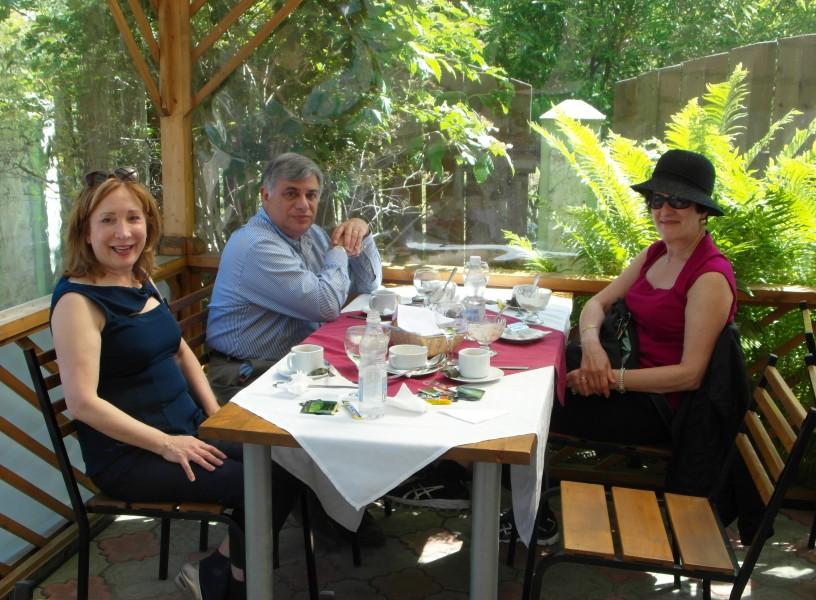 Peterhof, Russia ~ Lunch at Alexandriya restaurant