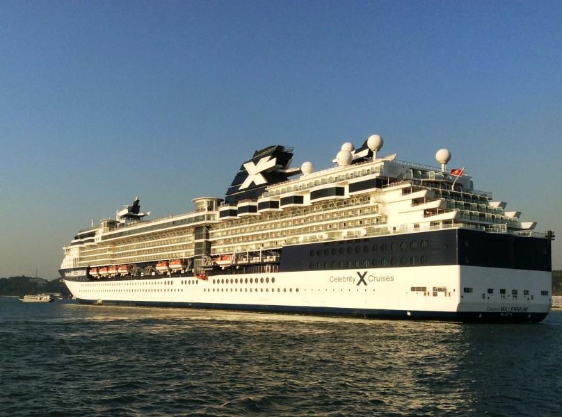 Skyroam Hotspot in use aboard cruise ship while at anchor in Halong Bay, Vietnam