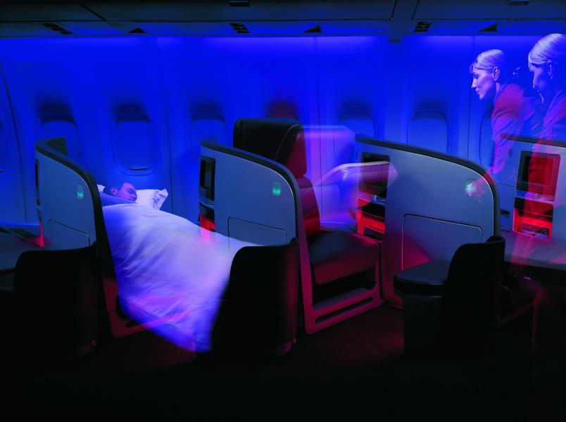Virgin Atlantic Upper Class cabin