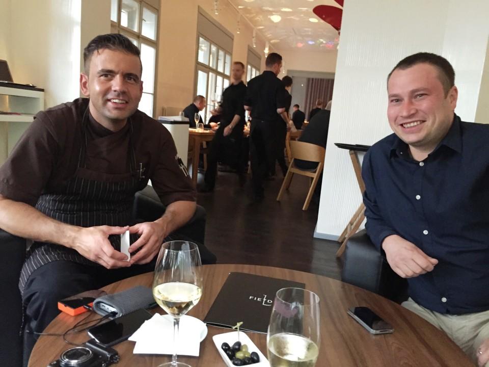 Field Restaurant in Prague : Executive Chef Radek Kasparek and Restaurant Manager Miroslav Nosek
