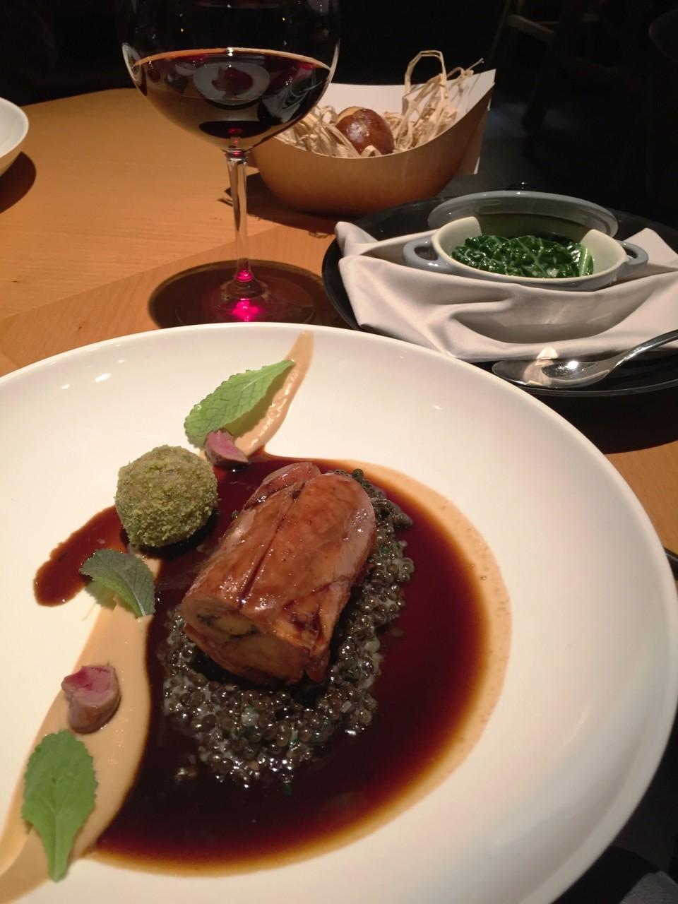 Field Restaurant in Prague : Main course of Rabbit, lentils, creamy garlic