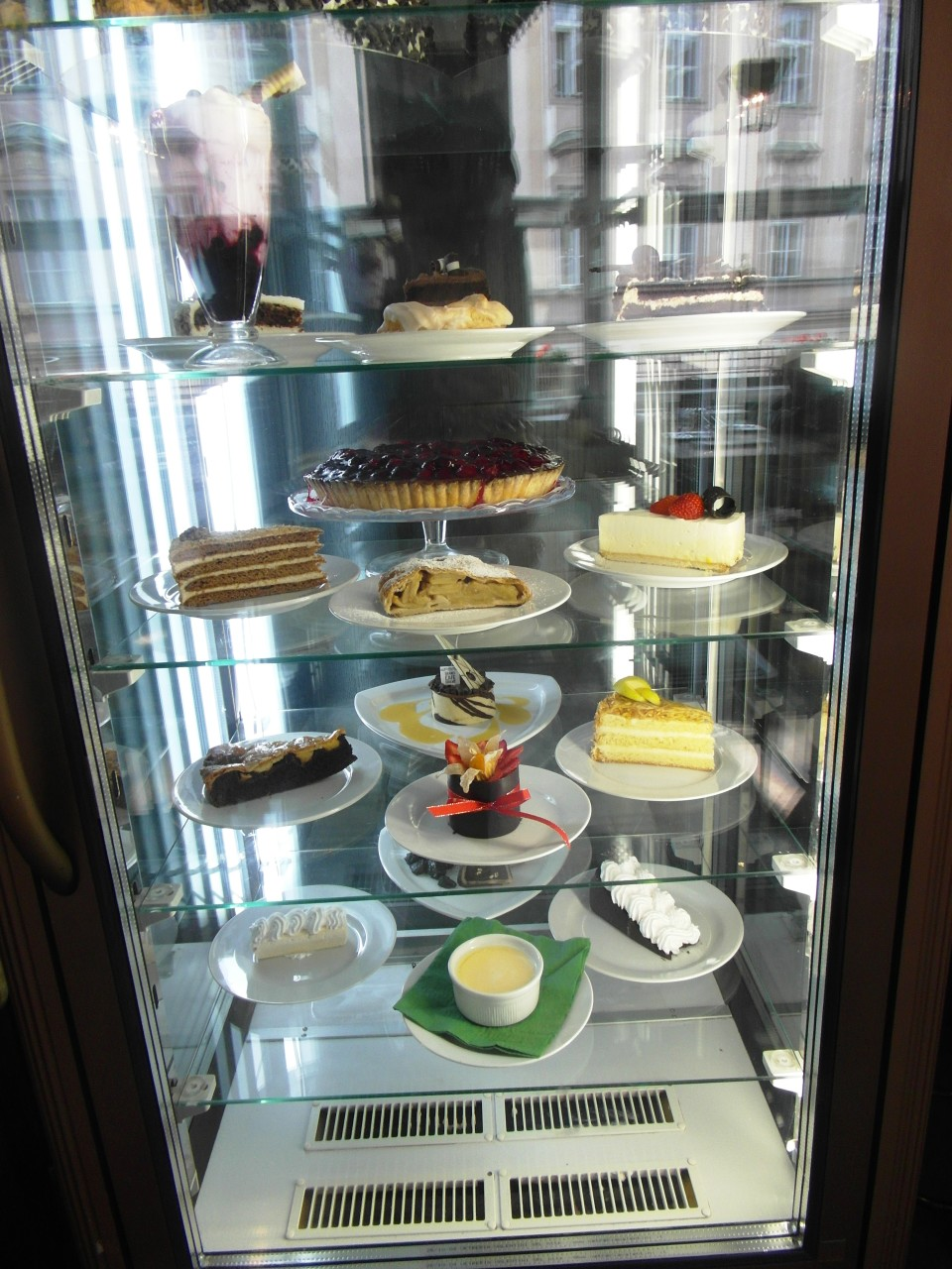 Prague Cafes : Grand Cafe Orient Pastry Display