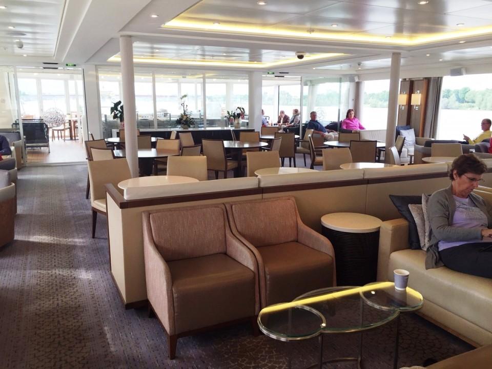 Viking River Cruises - partial view of Viking Tor Main Lounge